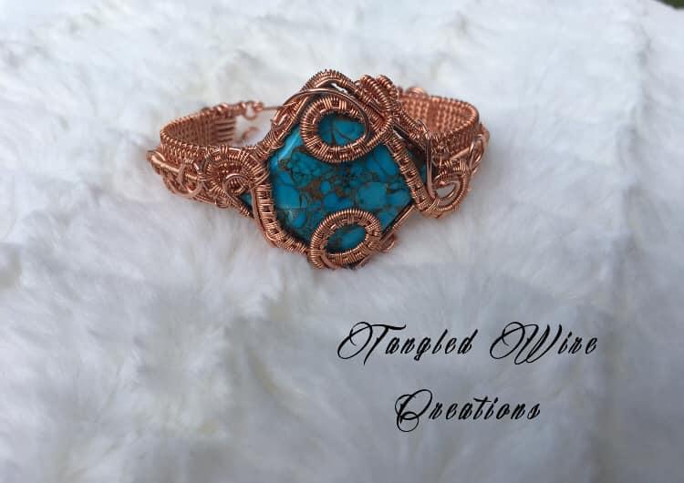 Copper Turquoise Cuff Bracelet 3