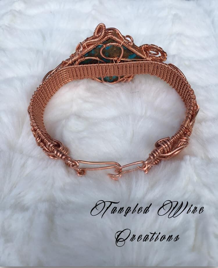 Copper Turquoise Cuff Bracelet 4