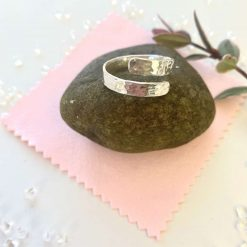 Sterling silver thumb wrap ring