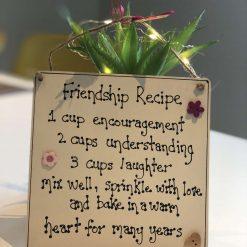 Friendship Recipe Plaque