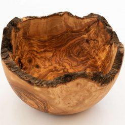 "24cm/9.5"" - 27cm/ 10.5"" Extra Large Rustic Edge Olive Wood Bowl"
