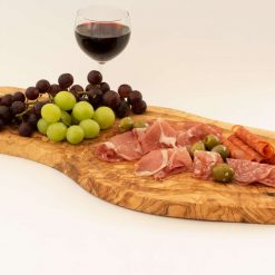 Large (45+cm) Rustic wooden chopping Serving Board with ridge from olive wood