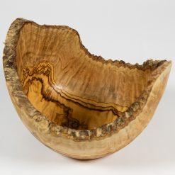 "20cm/8"" - 23cm/9"" Large Rustic Edge Olive Wood Bowl"