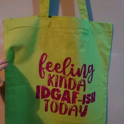 'Oh my gosh it's time to shop' cotton tote bag