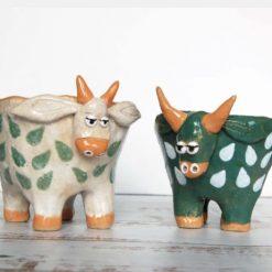 Handmade Ceramic COW Planter