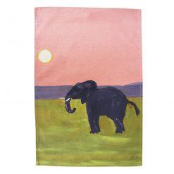 Pink Elephant XL Tea Towel