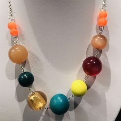 Chunky colourful necklace