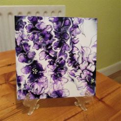 """""""WISTERIA""""  - hand painted on Glass"""
