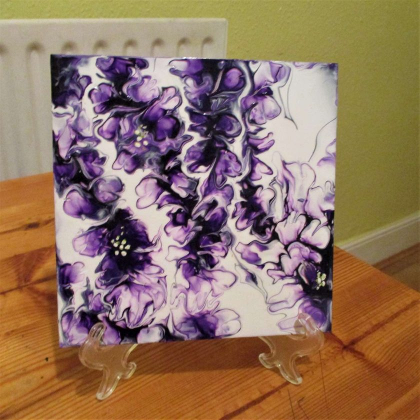 """""""WISTERIA""""  - hand painted on Glass 1"""