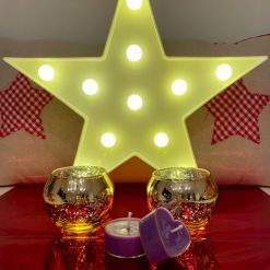 Gold tea light Candle holders