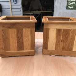 Pair Oak Garden Planters