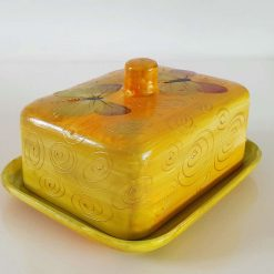 AUTUMN BUTTER DISH Hand painted | Dishwasher and Microwave Safe |