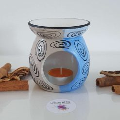 BLUE DREAM OIL and WAX MELTS BURNER Hand painted | Dishwasher Safe |
