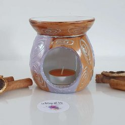 ORIENTAL OIL and WAX MELTS BURNER Hand painted | Dishwasher Safe |
