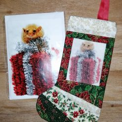 Snow Leopard Stocking and Card