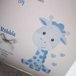Personalised New Baby Card Boy - Giraffe