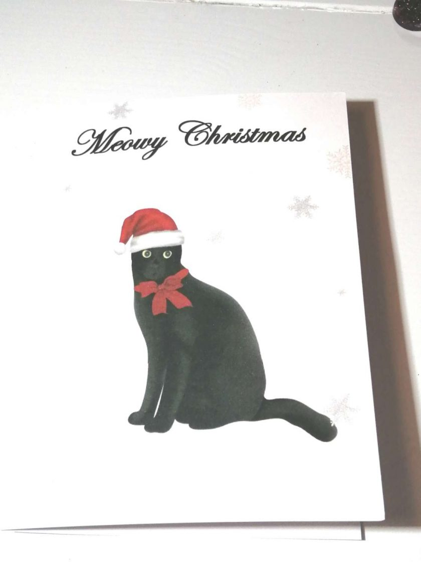 Christmas Cards, Cat Christmas Card 1