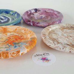 GLASS SOAP DISH Resin Finish -  Hand painted | Dishwasher Safe |