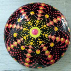 8 point mandala stone