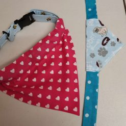 Reversible Over the Collar or with ties Dog Bandana  | Pet Neckwear | Dog Scarf | Puppy Accessories | Dog Lover Gift. with free UK postage.