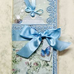 Blue Butterfly Tri-Fold Envelope Mini Journal