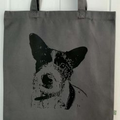 Personalised organic cotton tote bag with image of your own pet with charity donation 10
