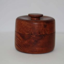 Hand turned tropical hardwood trinket box