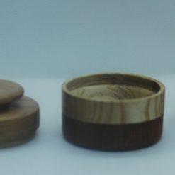 Diminutive lidded ring box, ear ring box, cufflink box