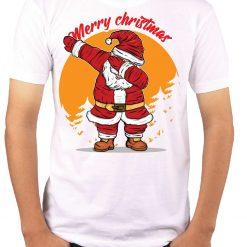 Wow T-Shirts 'Merry Christmas Santa Dance' Stylish T-Shirt with Saying - Themed Printed Cotton Unisex T-Shirt For Men, Women, Boys, Girls