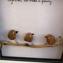 Bird family framed picture