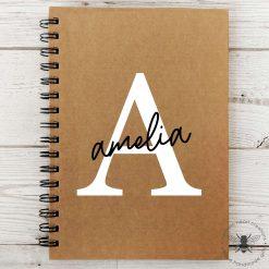 Custom Name & Initial A5 Notebook