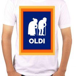 Wow T-Shirts 'OLDI' Stylish T-Shirt with Saying - Themed Printed Cotton Unisex T-Shirt For Men, Women, Boys, Girls