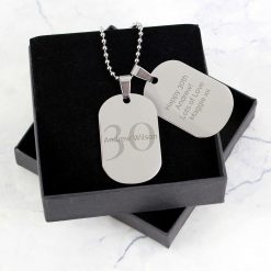 Personalised Big Age Stainless Steel Double Dog Tag Necklace 6