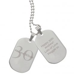 Personalised Big Age Stainless Steel Double Dog Tag Necklace 9