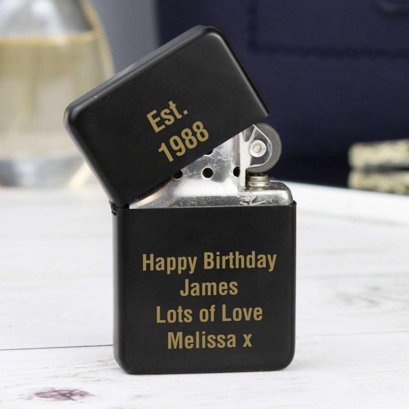 Personalised Black Lighter birthday gift 1