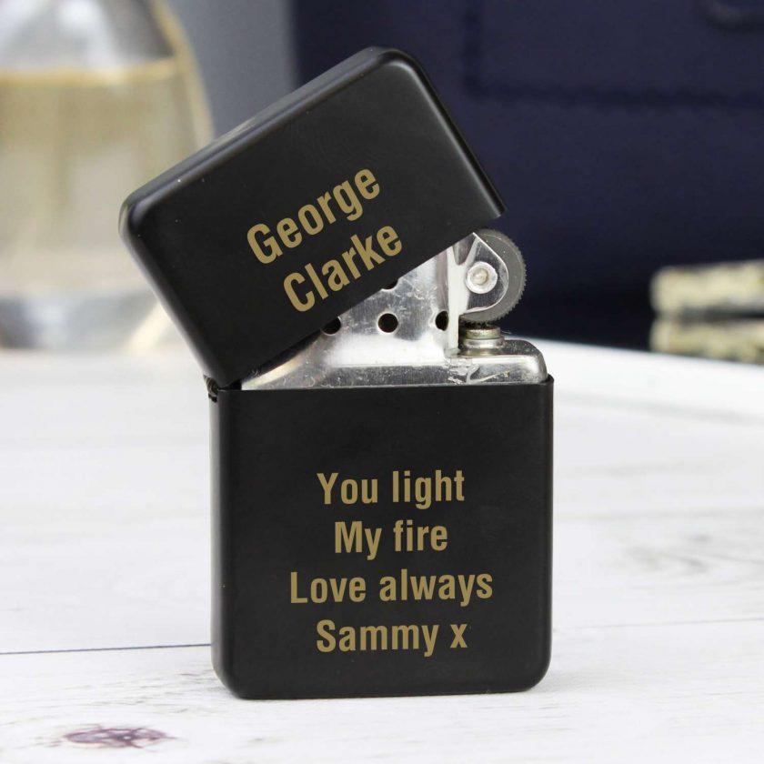 Personalised Black Lighter birthday gift 2