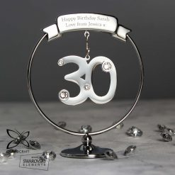 Personalised Crystocraft 30th Celebration Ornament Swarovski
