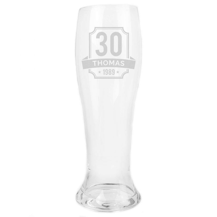 Personalised Big Age Giant Two And A Half Pint Beer Glass 6