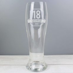 Personalised Big Age Giant Two And A Half Pint Beer Glass 10