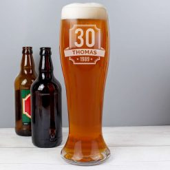 Personalised Big Age Giant Two And A Half Pint Beer Glass 9
