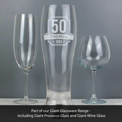 Personalised Big Age Giant Two And A Half Pint Beer Glass 7