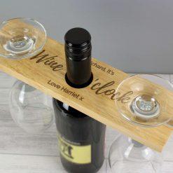 Personalised 'Wine O'clock' Wine Glass & Bottle Butler 8