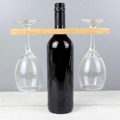 Personalised 'Wine O'clock' Wine Glass & Bottle Butler 6