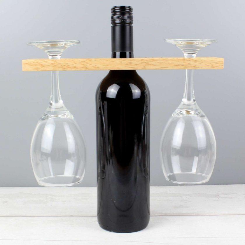 Personalised 'Wine O'clock' Wine Glass & Bottle Butler 2