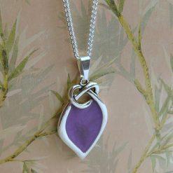 Purple Knot Pendant Necklace