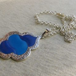 Blue and Turquoise Pendant Necklace