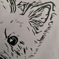 Personalised organic cotton tote bag with image of your own pet with charity donation 5