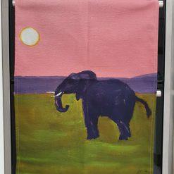 Pink Elephant XL Tea Towel 1