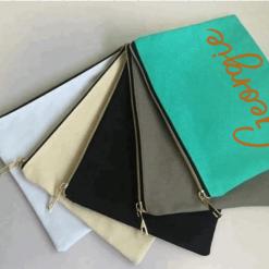 Personalised Make up, Canvas Toiletry Bag, Cosmetic Bag, Toiletry Bag Women, Bridesmaid Proposal Gift