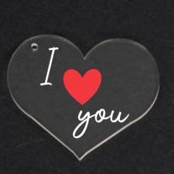 Heart Shaped Keyring, Valentines, Personalised